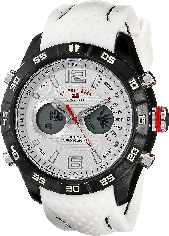U.S. Polo Assn. Sport Men s US9489 Analog-Digital Display Analog Quartz White Watch