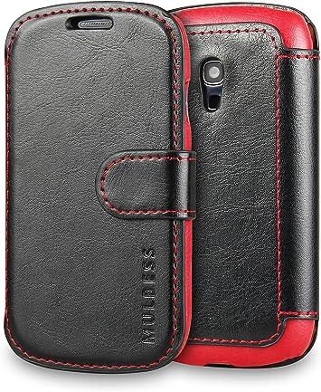 Mulbess Funda Samsung Galaxy S3 Mini [Libro Caso Cubierta] [En Capas de Billetera Cuero] con Tapa Magnética Carcasa para Samsung Galaxy S3 Mini Case, Negro: Amazon.es: Electrónica