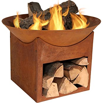 Amazon Com Esschert Design Rust Fire Bowl Garden Amp Outdoor