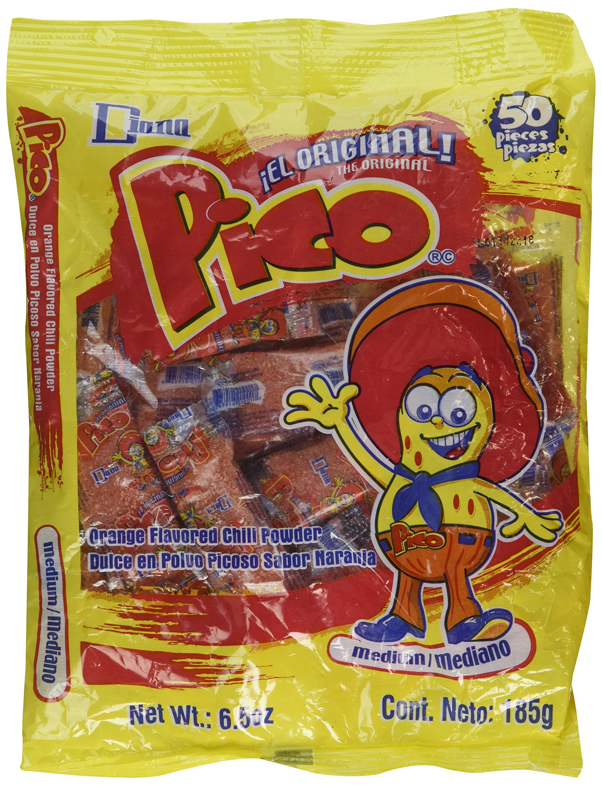 Pico Mediano, The Original Orange Flavor Hot Candy Powder, 50-Count