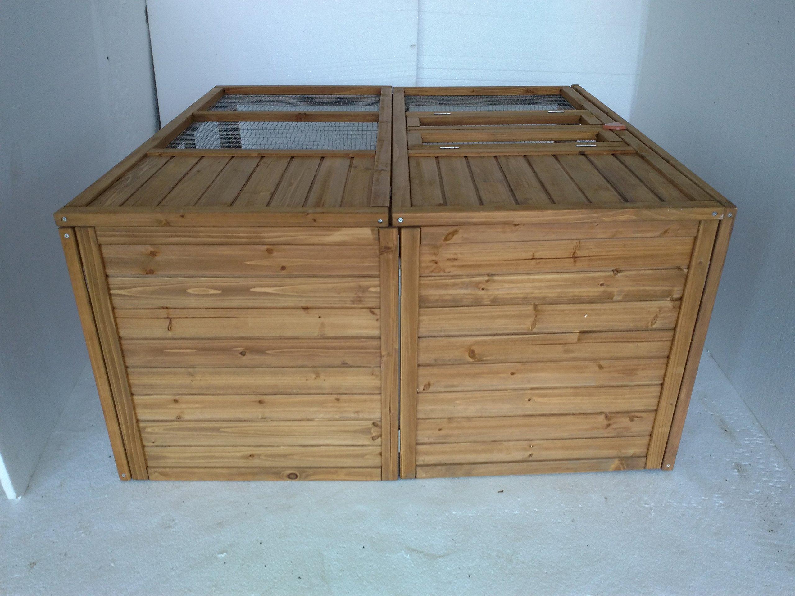 Exacme Lovupet 48'' Foldable Wooden Animal Cage Outdoor Chicken Coop Rabbit Pet Hutch Run 6010-0400