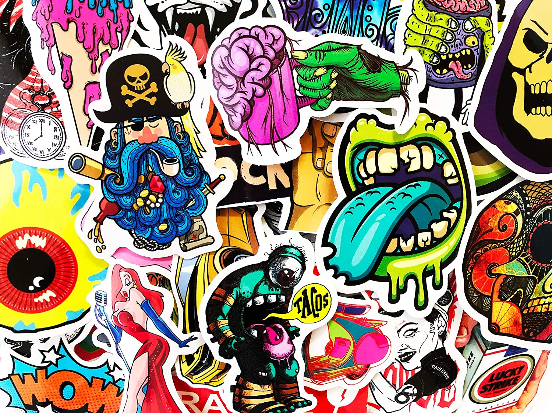 8 Bit Retro Pixel 25 Stickers Skateboard Laptop Car Phone Tablet Decals