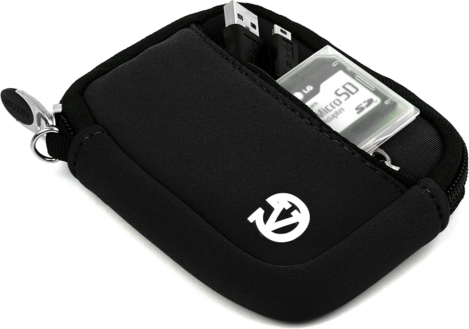 Black VanGoddy Mini Glove Sleeve Pouch Case for Sony Cyber Shot DSC Series Digital Cameras