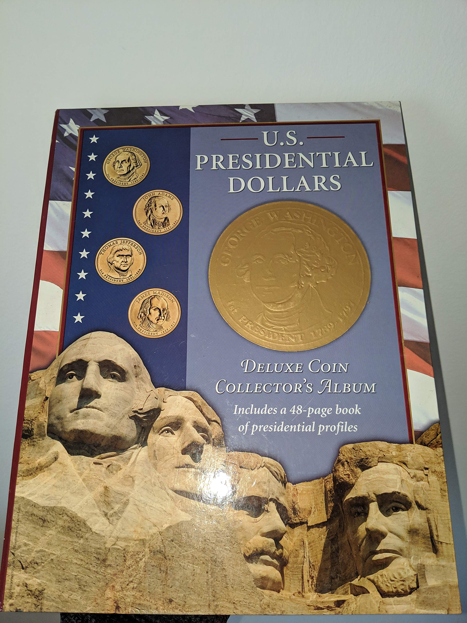 BOOK 2007-2016 Lot of 50 US PRESIDENTIAL $1 ONE DOLLAR COINS COLLECTOR/'S ALBUM
