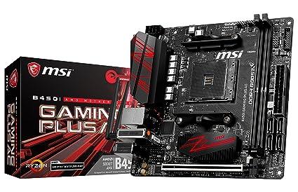 MSI Performance Gaming AMD Ryzen 1st 2nd Gen AM4 Mini-ITX Motherboard  (B450I Gaming Plus AC)