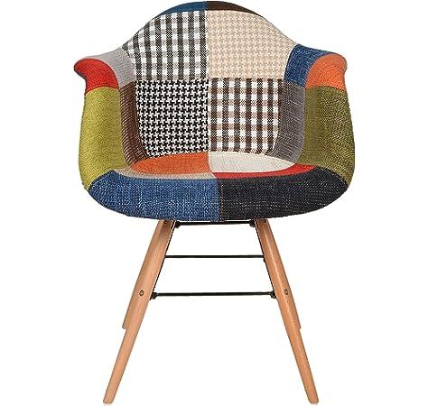 joolihome - Juego de 2 sillones de patchwork, sillas de ...