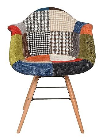 ts-ideen 1 x Design Klassiker Patchwork Sessel Retro 50er Jahre ...