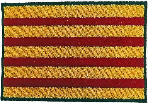 Gemelolandia Parche Bordado Termoadhesivo Bandera de Cataluña 8cm x 5,5cm: Amazon.es: Ropa y accesorios