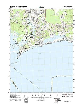 Amazon.com: Topographic Map Poster - WATCH HILL, RI-CT-NY TNM GEOPDF ...