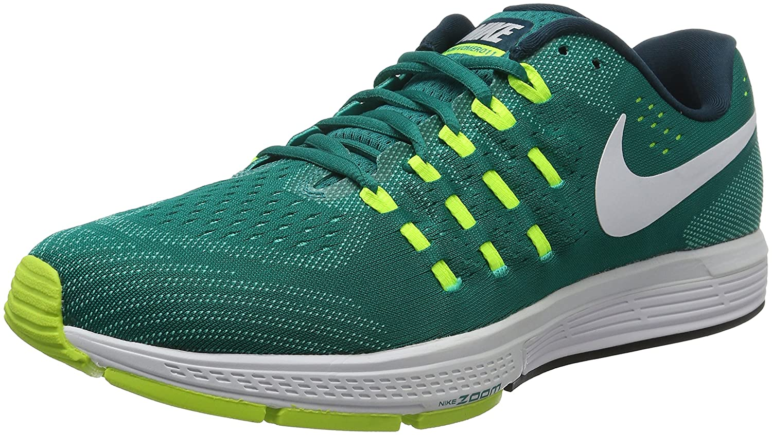 Nike Men's Air Zoom Vomero 11 Running Shoes B01GE1L0WA 12 D(M) US|Rio Teal / White - Volt - Clear Jade