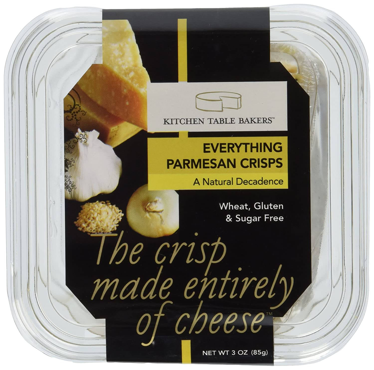 BM kitchen table bakers Amazon com Kitchen Table Bakers Everything Gourmet Parmesan Cheese Crisps 3 Ounce