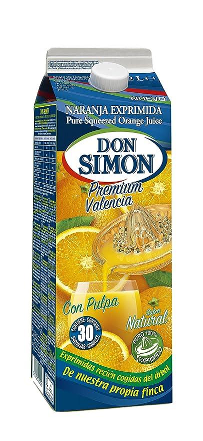 Don Simon Zumo de Naranja Exprimida con Pulpa - Pack de 6 botellas x 2 l