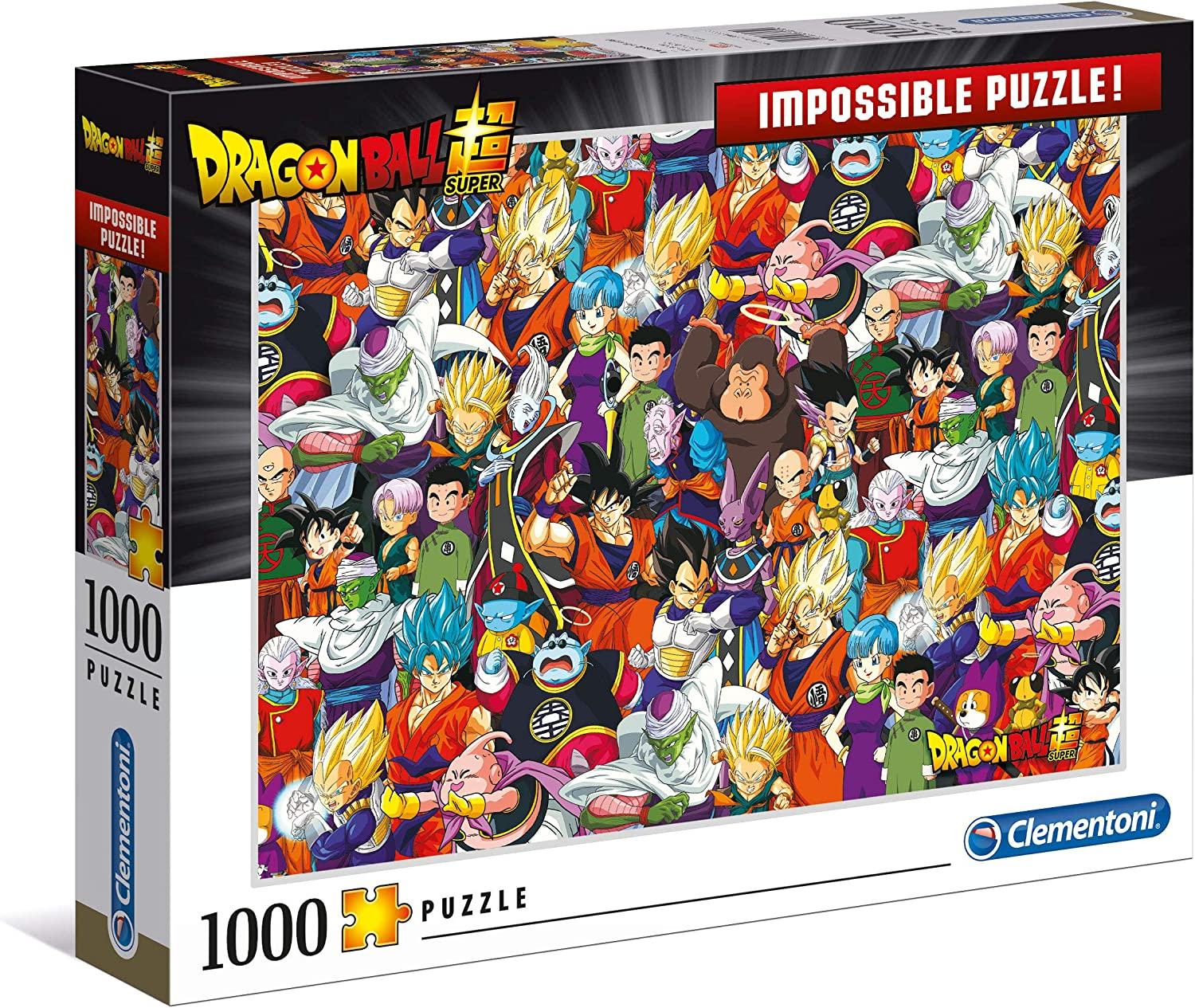 Clementoni- Impossible Puzzle-Dragon Ball-1000 pièces, Multicolor ...