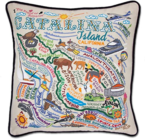 Catstudio Catalina Embroidered Decorative Throw Pillow