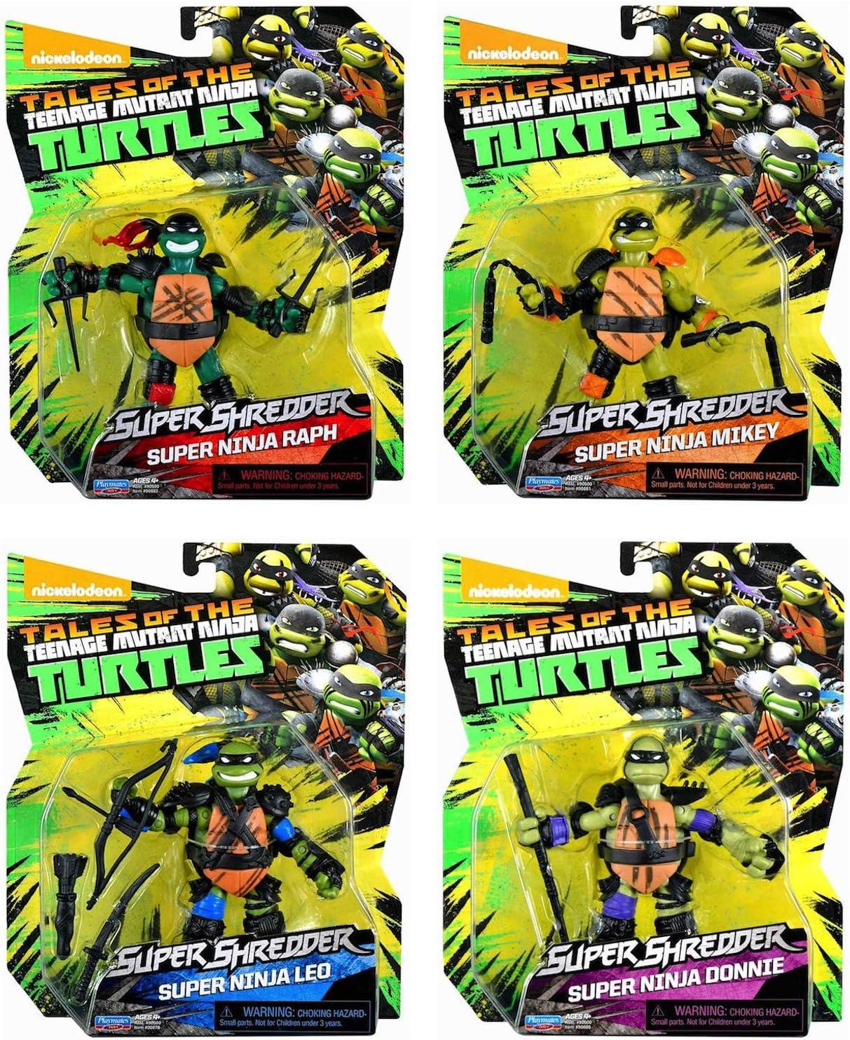 Amazon.com: teenage mutant ninja turtles Juego de 4 super ...