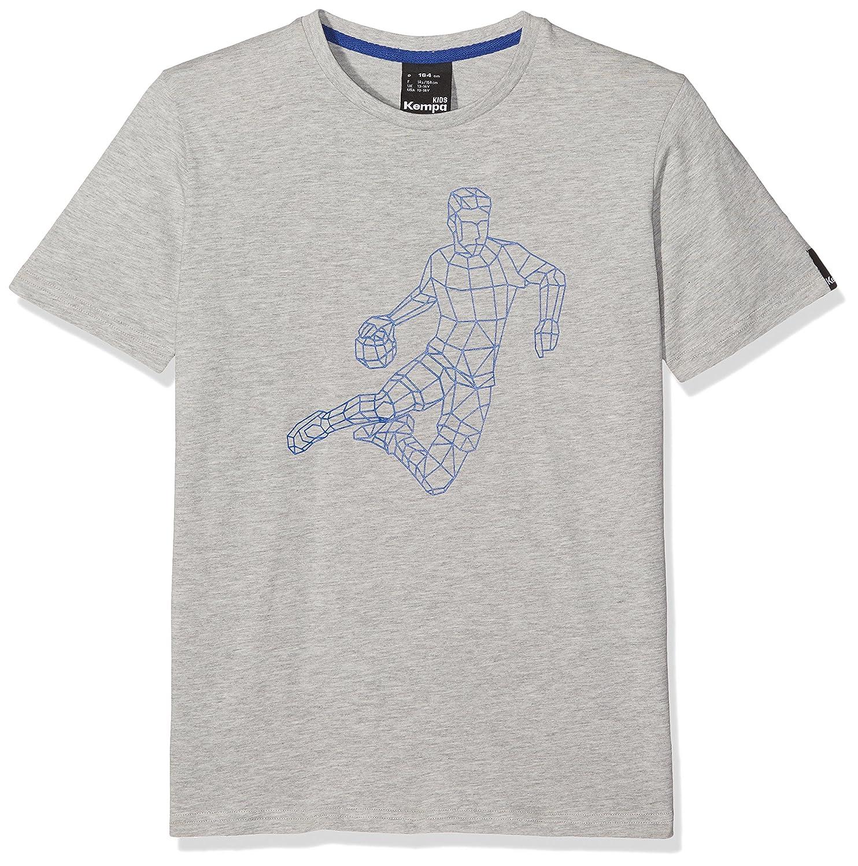 Kempa Polygon Player Camiseta Casual, Hombre, Gris Melange, M