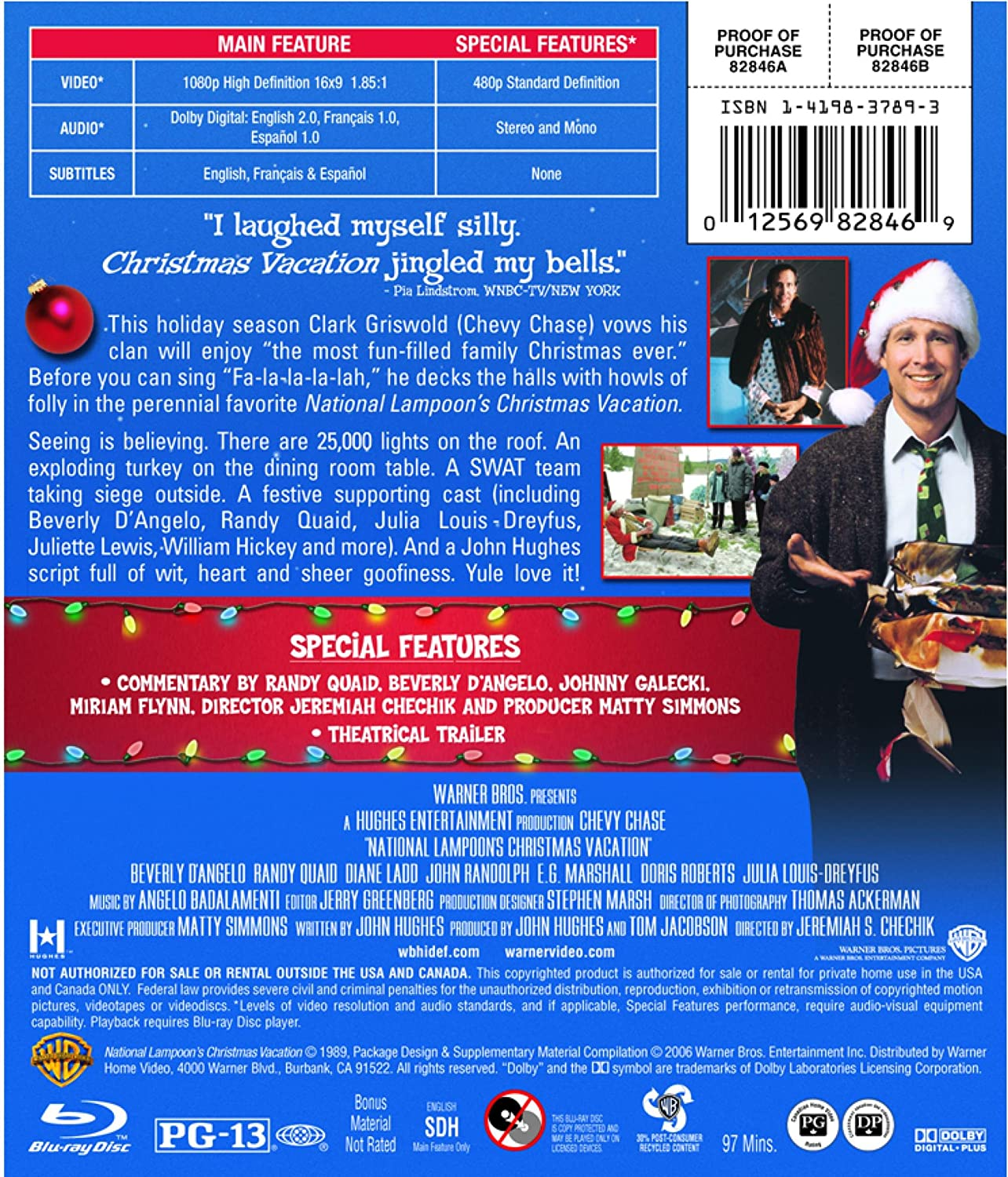 National Lampoon's Christmas Vacation [Blu-ray]: Amazon.ca: Chevy ...