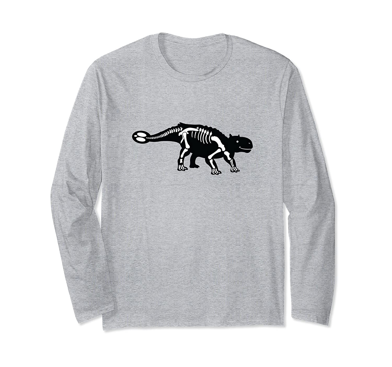 Ankylosaurus Fossil Long Sleeve Shirt | Dinosaur Skeleton-mt