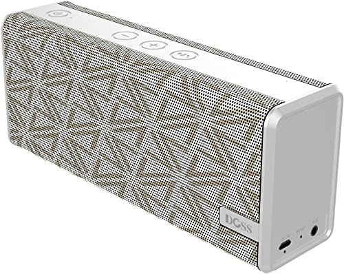 Bluetooth Speaker,DOSS SoundBox Color Portable Wireless Bluetooth 4.0 Speakers with 12W Stereo Sound and Enhanced Bass, 12H Playtime and handsfree for Phone, Tablet, TV, etc Grid White