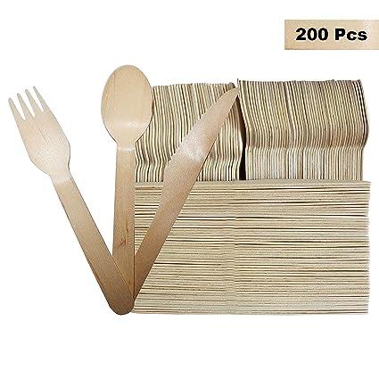 Set Cubertería Desechable 150 Piezas - Tenedores (50), Cucharas (50) y