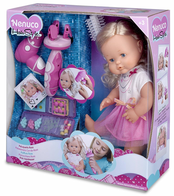 Amazon.es: Famosa 700012385 - Kit de peluquería Nenuco con secador, Cepillo de Pelo y Accesorios, 42 cm: Juguetes y juegos