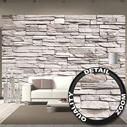 Wallpaper White Stonewall Wall Picture Decoration Stone Wallpaper Impressive Decor Stone Wall Design