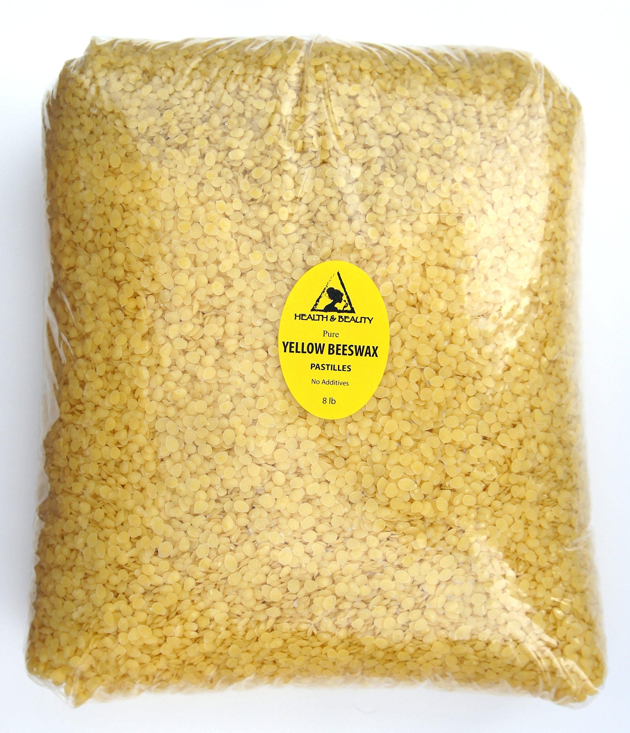Yellow Beeswax Bees Wax Organic Pastilles Beads Premium Prime Grade A 100% Pure 8 LB