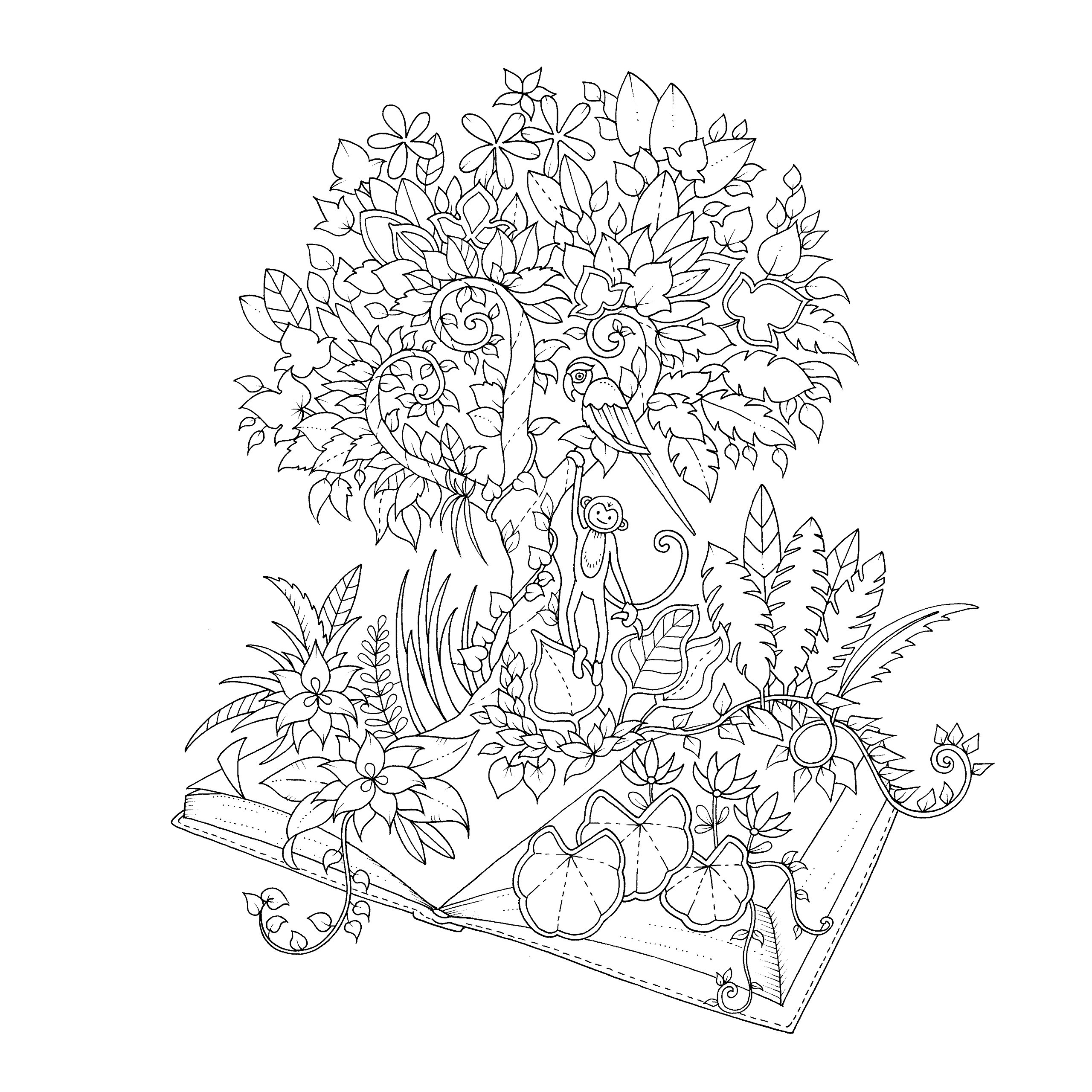 Jungle book colouring in pictures - Magical Jungle An Inky Expedition Colouring Book Colouring Books Amazon Co Uk Johanna Basford 9780753557167 Books