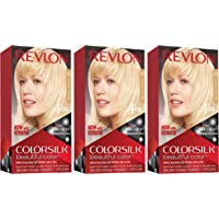 REVLON Colorsilk Beautiful Color Permanent Hair Color with 3D Gel Technology & Keratin, 100% Gray Coverage Hair Dye, 03…