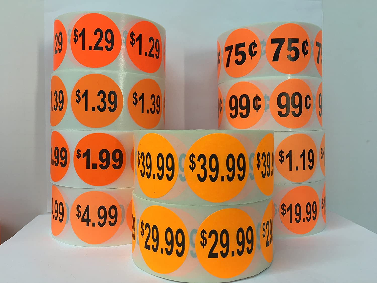 1000 Labels 1.5 Round Bright Red $14.99 Pricing Price Point Retail Stickers 1 Roll
