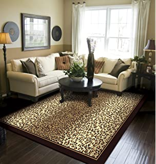 ced1c409a0 Modern Area Rugs 2x3 Door Mat Indoor Brown Cheetah Leopard Small Rugs for  Bedroom and Bathroom