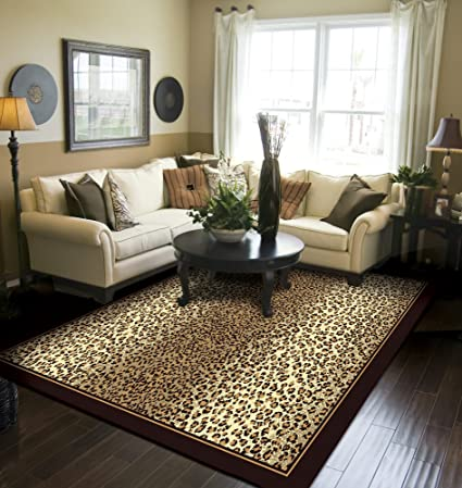 Charming Modern Area Rugs Brown Cheetah Leopard 5x8 Rugs For Living Room 5x7  Clearance