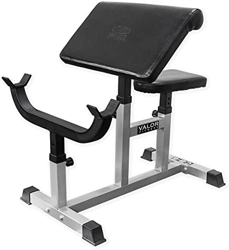 Valor Fitness CB Preacher Curl Bench for Bicep Curl Support Meant for Curling with EZ Curl Bar Sold Separately