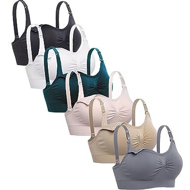 663b2c9c16 Lataly Womens Sleeping Nursing Bra Wirefree Breastfeeding Maternity  Bralette Pack of 6 Size S