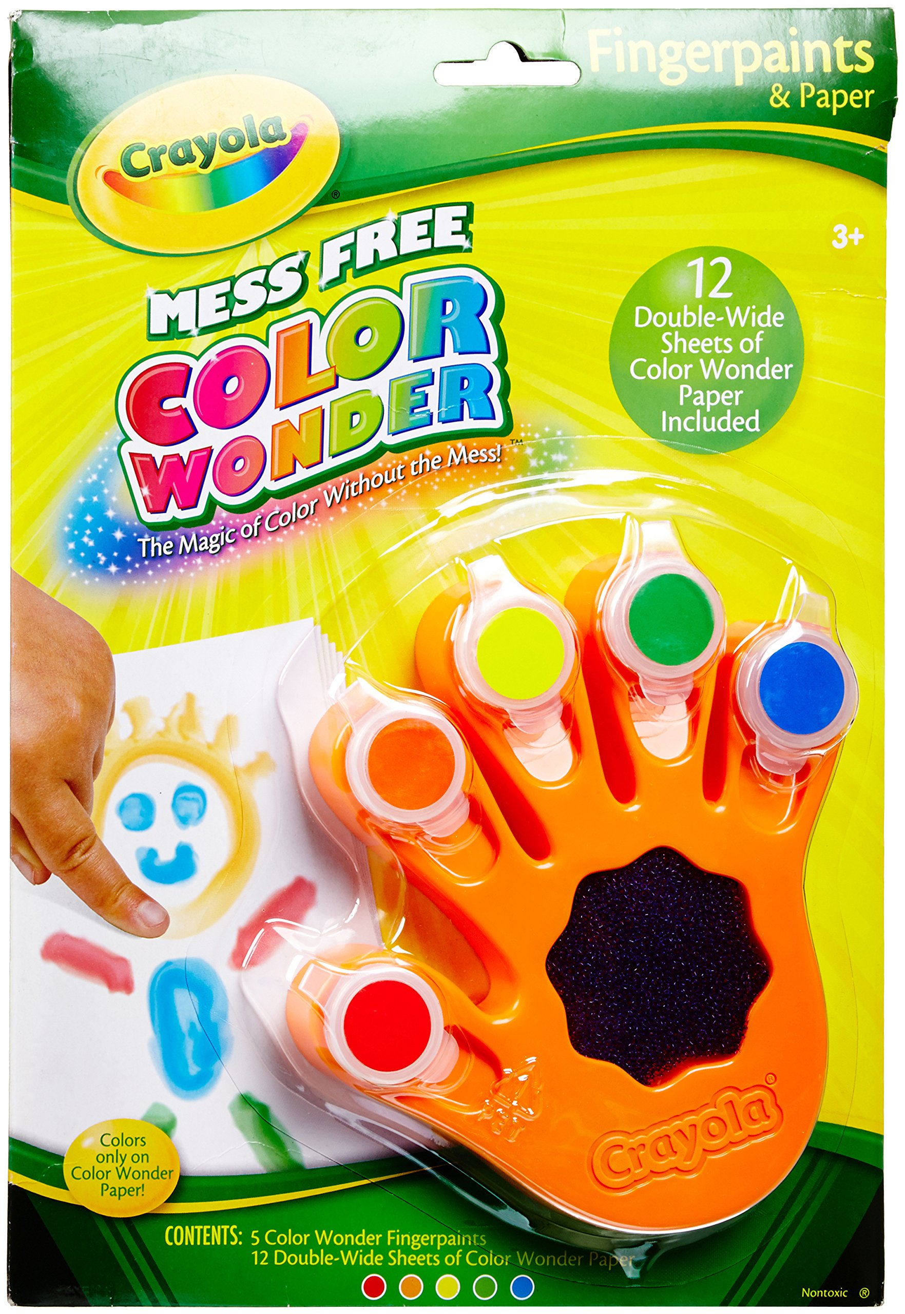Crayola, Color Wonder Mess Free Fingerpaints and Paper, Art Tools ...