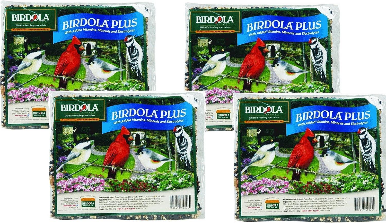 (4 Pack) Birdola Plus Seed Cakes 2-Pounds each