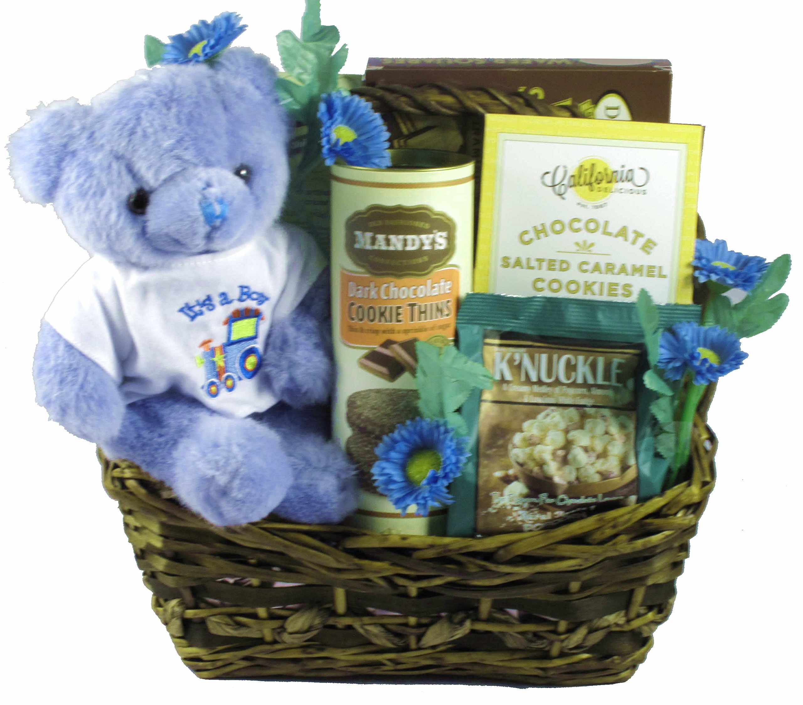 Proud Parents Gift Basket - A Gift Basket To Celebrate The Proud Parents Of A New Baby Boy
