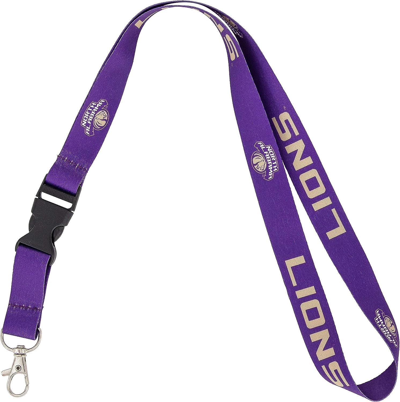 University of North Alabama UNA Lions NCAA Car Keys ID Badge Holder Lanyard Keychain Detachable Breakaway Snap Buckle