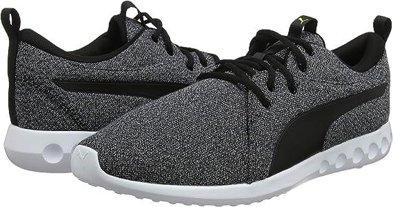 PUMA Carson 2 Knit NM Zapatillas de Running para Hombre,Negro (Puma Black- Puma White-Yellow Alert)  , 39 EU: Amazon.es: Zapatos y complementos