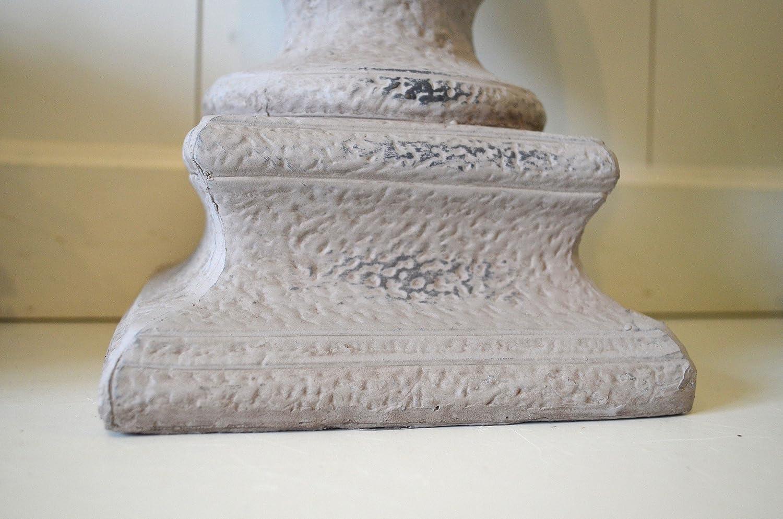 Zapfen Keramik Deko Figur Skulptur Grau Ca 33cm Deko Objekt