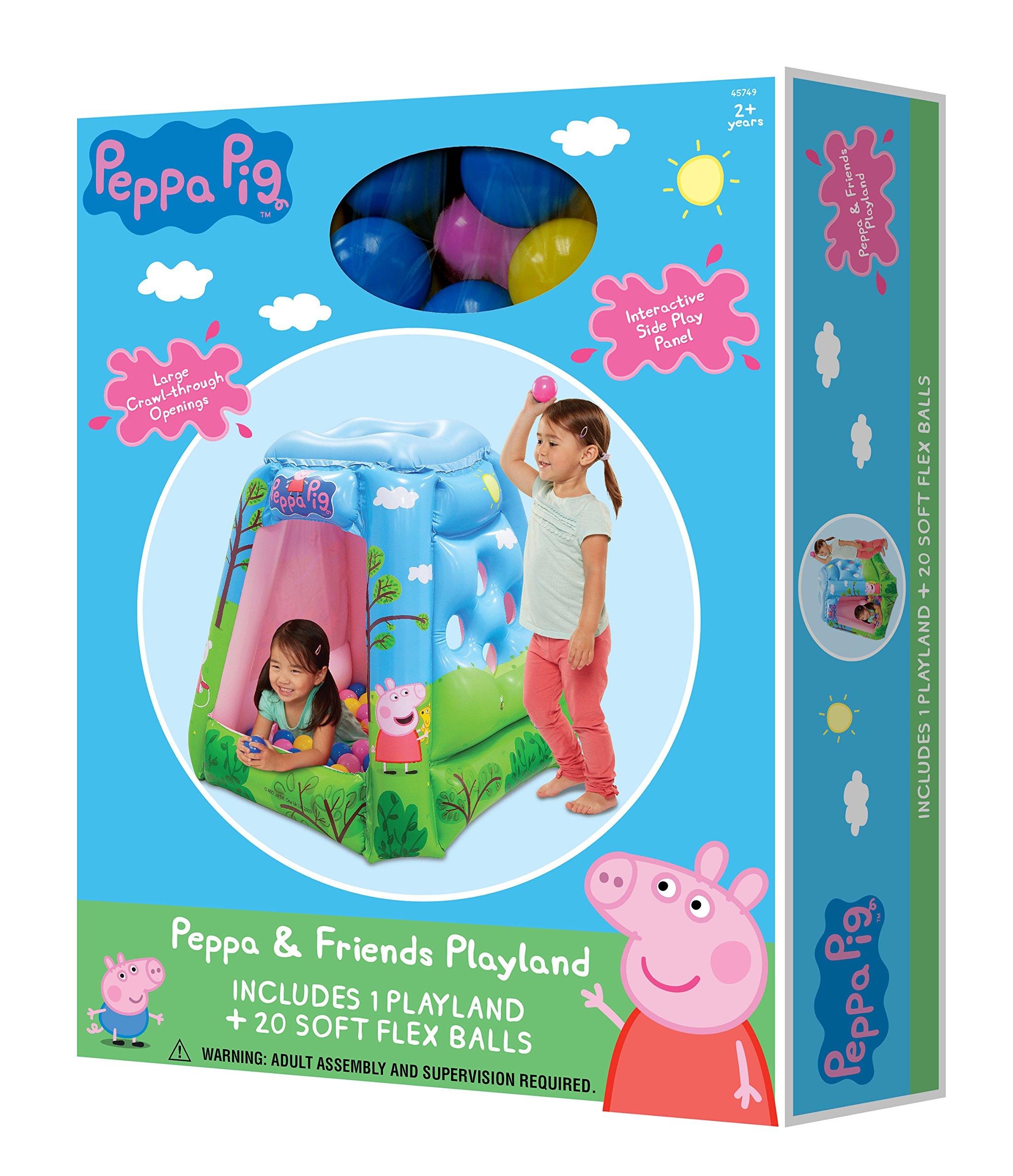 Peppa Pig Ball Pit, 1 Inflatable & 20 Sof-Flex Balls, Blue/Green, 37''W x 37''D x 34''H by Peppa Pig (Image #3)