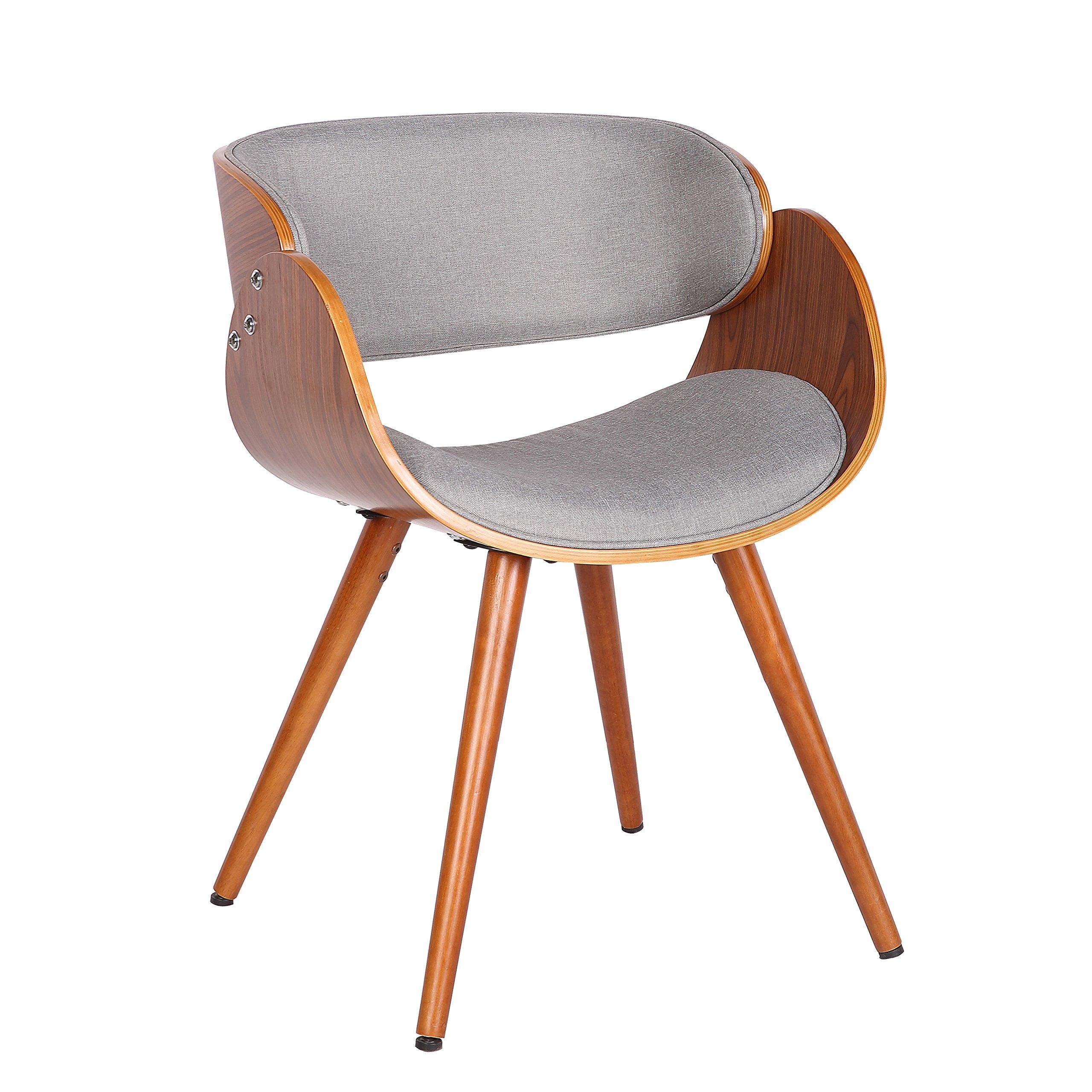 Porthos Home Aurelia Upholstered Side Seat, Grey