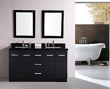 Design Element Cosmo Double Sink Vanity Set, 60-Inch - Vanity ...