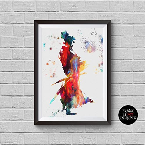 Amazon.com: Samurai Ujio inspired Watercolor Painting The Last ...