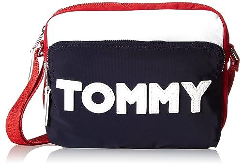 09f8aca34663 Tommy Hilfiger Women AW0AW04951 Cross-Body Bag Black Size  UK One Size
