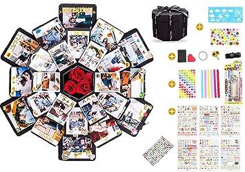 Spartas Store Kreative /Überraschung Box geschenkbox handgemachtes Scrapbook DIY Faltendes Fotoalbum,Explosions-Box Christmas Gedenkalben Geburtstagsgeschenke Partygeschenke.