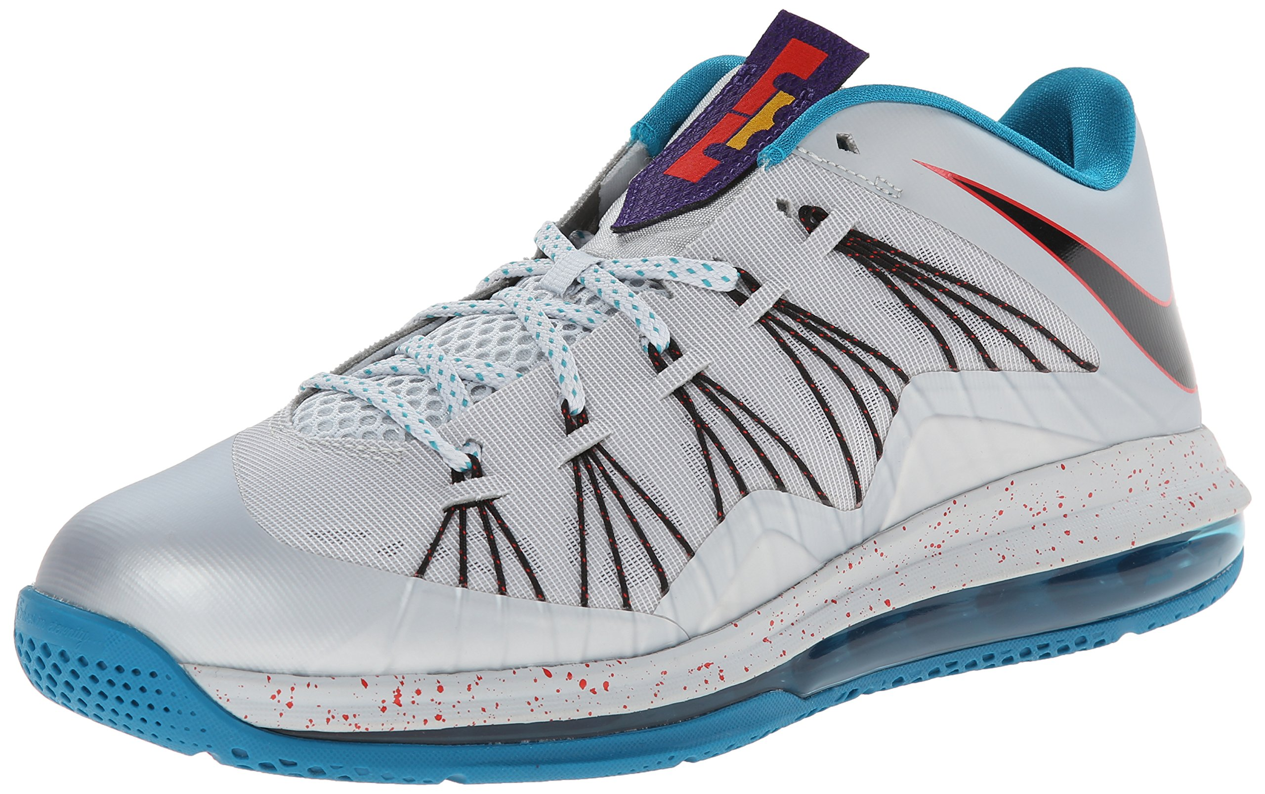 finest selection f9d79 b8b5a Galleon - NIKE Men s Air Max Lebron X Low Basketball Shoes (11, Metallic  Platinum Black-Tropical Teal-Chilling   579765 002)
