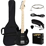 "New 30"" Kids Black Electric Guitar With Amp & Much More Guitar Combo Accessory Kit"