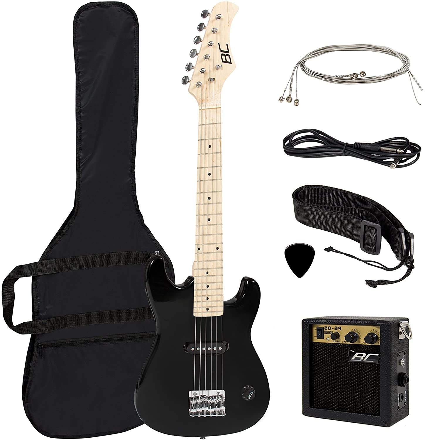 Amazon New 30 Kids Black Electric Guitar With Amp Much More