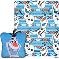 """Disney Frozen, """"All About Olaf"""" 3D Pillow and Throw Set, 40"""" x 50"""", Multi Color, 1 Count"""